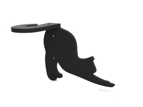 "Bracket ""Cat"" (right) in Black Natural Versatile Plastic"