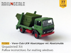 Vierer-Club-LKW Absetzkipper (TT 1:120) in Smooth Fine Detail Plastic
