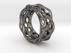 Organixz Ring 1 in Polished Nickel Steel