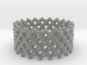Lattice Ring No.2 in Metallic Plastic