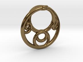 Möbius Fractal Pendant in Polished Bronze