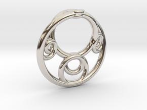 Möbius Fractal Pendant in Platinum