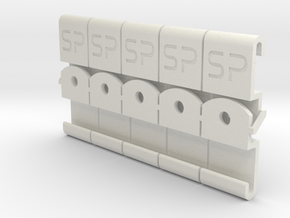 Slider 'Type R' for SwitchPic-Panels in White Natural Versatile Plastic