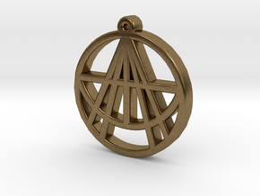 Astralizey Logo Pendant/Keychain in Natural Bronze