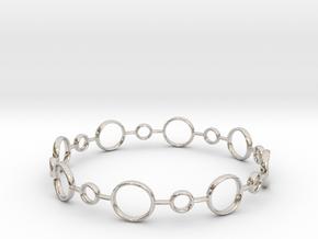 Circle Bracelet in Rhodium Plated Brass