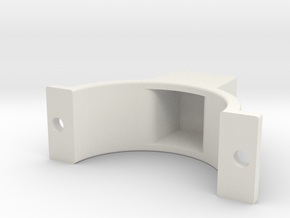 LSR Ring [Front Top] in White Natural Versatile Plastic