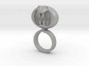 Dark Helmet's ring from Spaceballs Schwartz in Aluminum