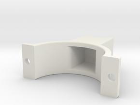 LSR Ring [Rear Top] in White Natural Versatile Plastic