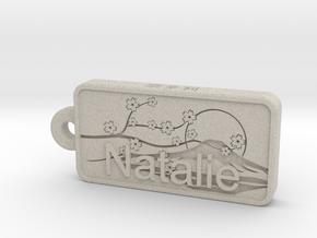 Natalie Name Japanese tag in Natural Sandstone