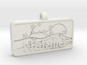 Natalie Name Japanese Tag in White Natural Versatile Plastic
