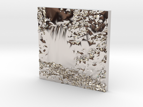 Hopetoun Waterfall in Rhodium Plated Brass