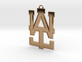 2 inch WAI Symbol Beveled Pendant in Polished Brass