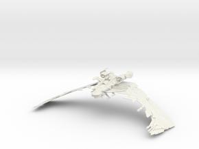 "Aehallh Class  NightmareScimitar  8.7"" in White Strong & Flexible"