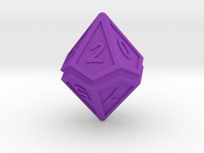Split D10 in Purple Processed Versatile Plastic