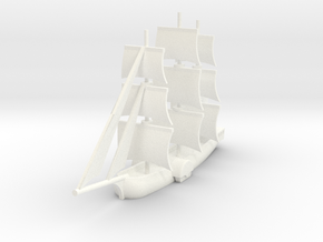 1/1000 Sailing Steamer version 1 in White Strong & Flexible Polished