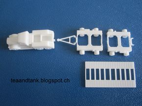 1/144 Kaelble with Culemeyer tank transporter in White Natural Versatile Plastic