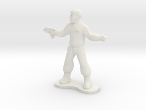 Security Officer in White Natural Versatile Plastic