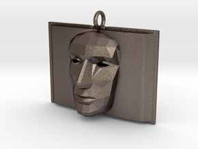 Bookface in Polished Bronzed Silver Steel