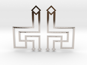 Loft Female- Earrings in Rhodium Plated Brass
