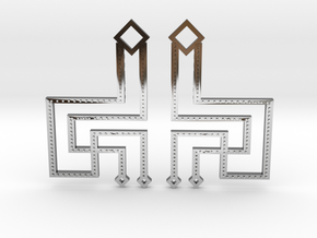 Loft Female- Earrings in Fine Detail Polished Silver