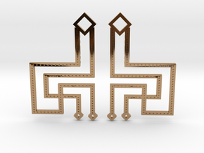 Loft Female- Earrings in Polished Brass