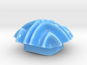Ocean Form Sugar Bowl Lid in Gloss Blue Porcelain