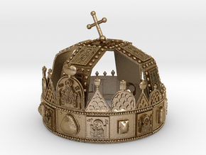 Hungarian Holy Crown - half scale in Polished Gold Steel