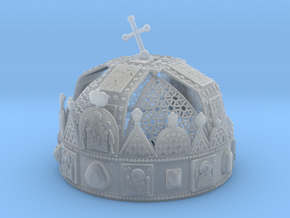 Hungarian Holy Crown with net - half scale in Smooth Fine Detail Plastic