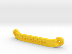 CW01 Chassis Brace - Rear - Lunchbox in Yellow Processed Versatile Plastic