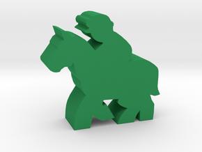 Game Piece, Race Horse in Green Processed Versatile Plastic