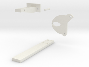 Simple Gath Latch in White Natural Versatile Plastic