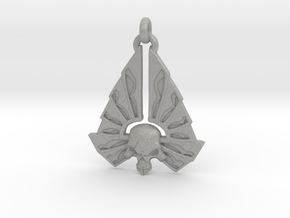 Winged Skull 01 - 60mm in Aluminum