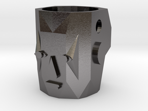 Kachina Face v01 in Polished Nickel Steel