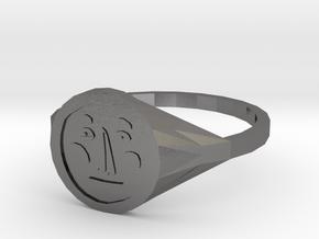 Signet Face v01 M in Polished Nickel Steel