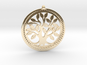 DNA/Tree Of Life Pendant ~ 45mm in 14K Yellow Gold