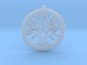 DNA/Tree Of Life Pendant ~ 45mm in Smooth Fine Detail Plastic