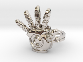 Iron Man Ring - 18.89mm - US Size 9 in Platinum
