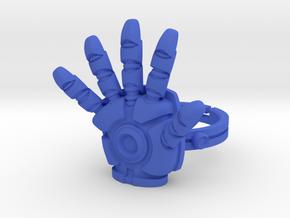 Iron Man Ring - 18.89mm - US Size 9 in Blue Processed Versatile Plastic