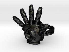 Iron Man Ring - 17.35mm - US Size 7 in Matte Black Steel