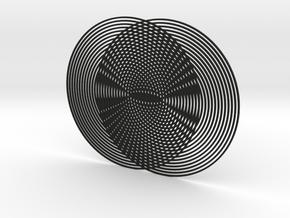 Moire pattern in Black Natural Versatile Plastic