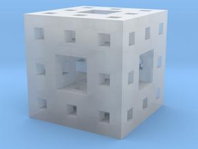 Little Level 2 Menger Sponge in Smooth Fine Detail Plastic