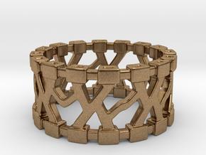 Trekma Ring in Natural Brass