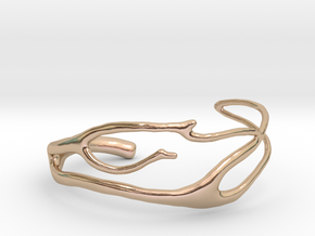 Coral 2 branch cuff in 14k Rose Gold Plated Brass