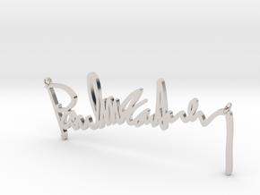 Paul Mccartney Signature Pendant in Platinum