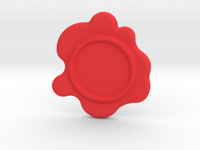 Wax Seal - Customizable Paper Weight! in Red Processed Versatile Plastic