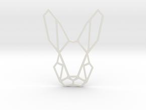Mr. Rabbit Pendant in White Natural Versatile Plastic