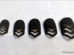 Chevron Nails (Size 4) in Black Natural Versatile Plastic