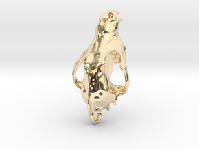 Wolf  (Canis Lupus) in 14K Yellow Gold