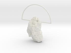 Mars Rock Pendant in White Natural Versatile Plastic