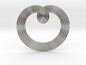 0526 Motion Of Points Around Circle (5cm) #003 in Premium Silver